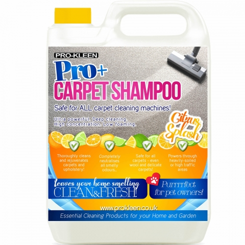 Pro-Kleen Pro+ Professional Carpet Shampoo - Great for Pet Owners! - Pro -Kleen